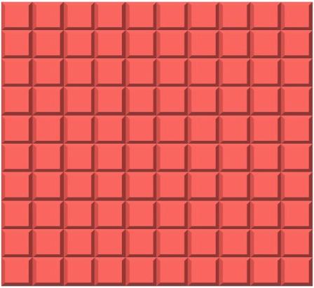 a flat dienes block worth 100 in place value blocks