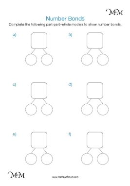 blank part part whole worksheets pdf
