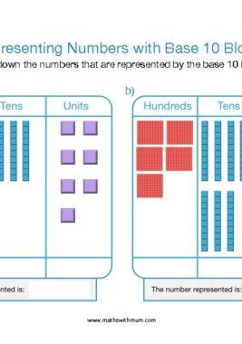 base ten dienes block representing numbers place value worksheet pdf HTU