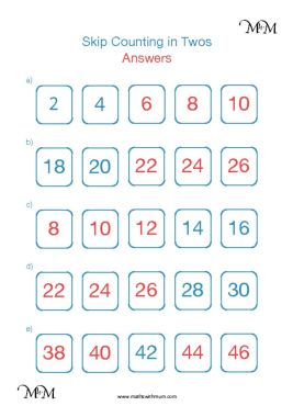 skip counting by 2 worksheet answers pdf