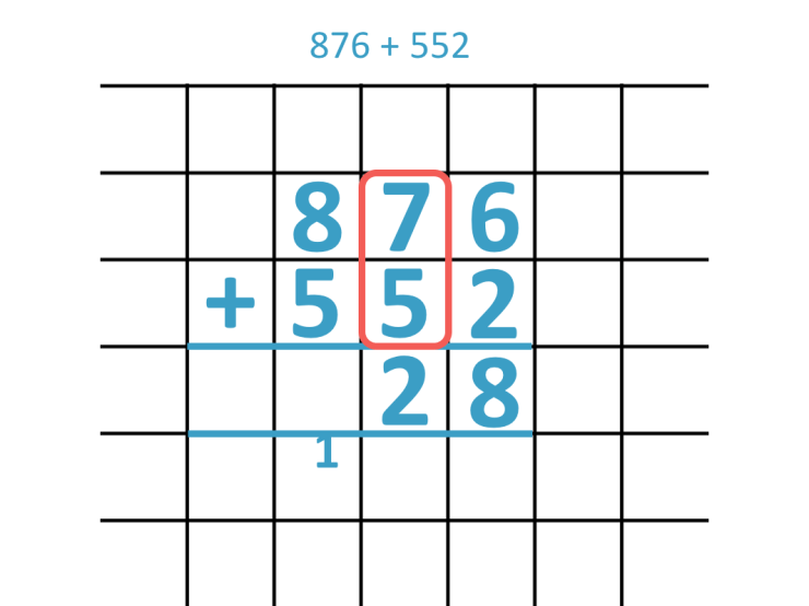carrying twice with a 3-digit addition question