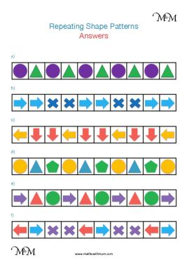 Complete the pattern worksheet answers pdf