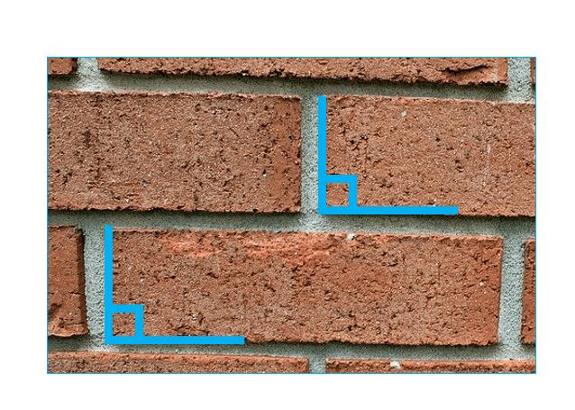 right angles on bricks