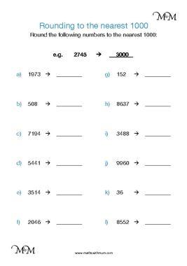 rounding to the nearest thousand worksheet pdf
