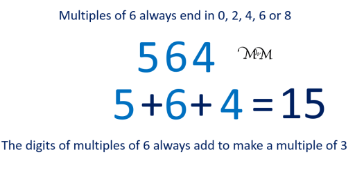 rule for divisibility by 6 example of 564