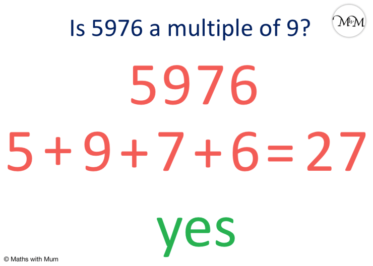 rule to identify if a number is a multiple of 9