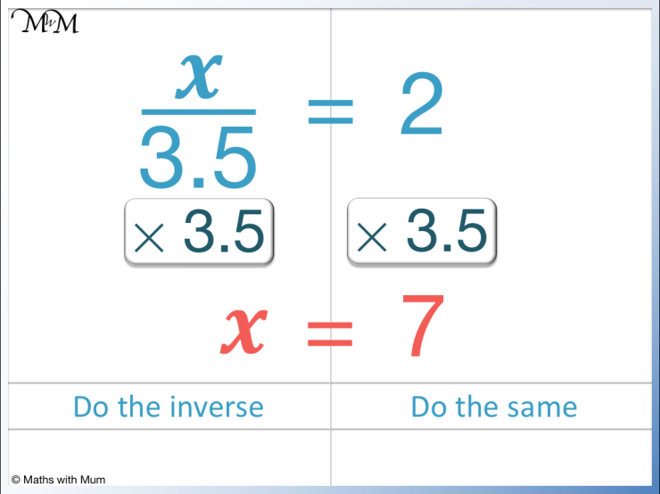solving an equation with a decimal on the denominator