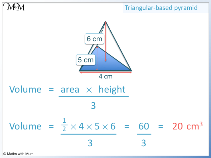 example of finding the volume of a triangular pyramid