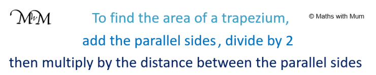 rule to find the area of a trapezoid