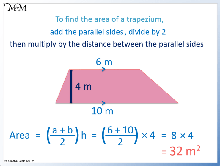 how to find the area of a trapezoid example