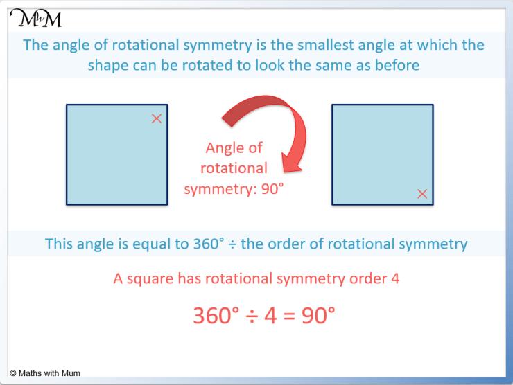 angle of rotational symmetry