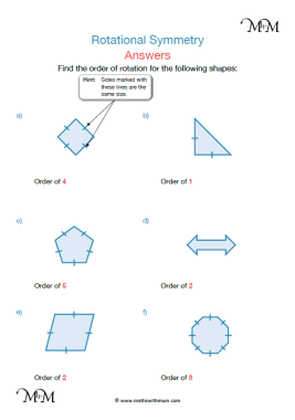 Rotational Symmetry worksheet pdf answers pdf