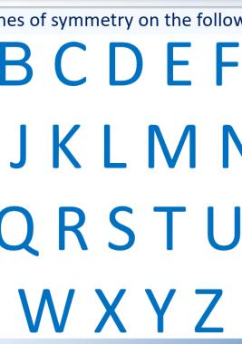 letters lines of symmetry worksheet pdf