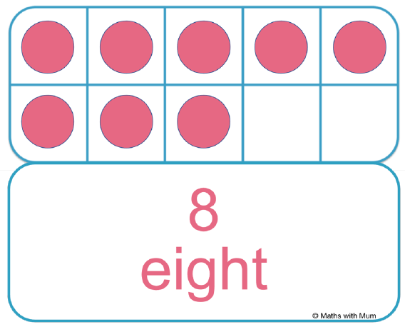 how to subitize 8 on a tens frame