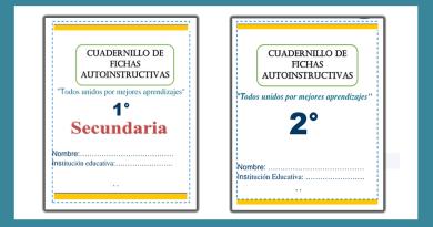 Cuadernillos de Autoaprendizaje para todo Secundaria 2021 como Apoyo Pedagógico para el Docente y Estudiantes.