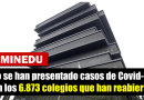 MINEDU informa que no se han presentado casos de Covid-19 en los 6.873 colegios que han reabierto