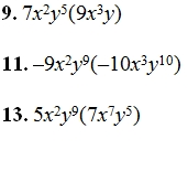 Multiplying Monimials Worksheet And Answer Key Over