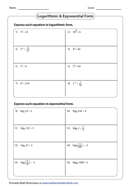 Search Results Logarithmic Properties Worksheet