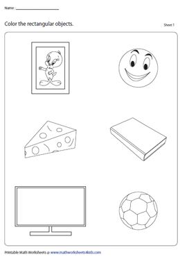 Recognizing Rectangles Worksheets