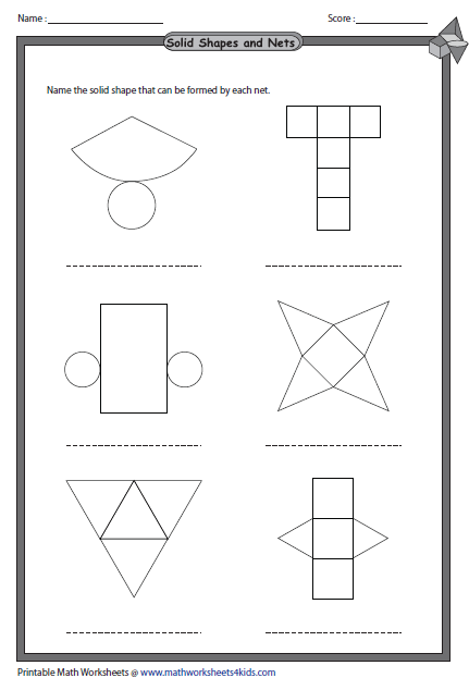 Area Net Shapes Surface Have Two Same