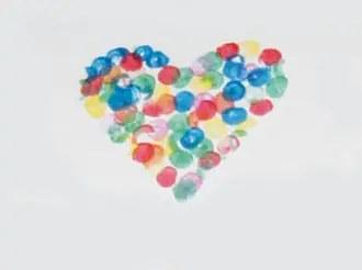 Κάρτα καρδιά για ερωτευμένους