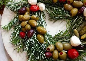 Χριστουγεννιάτικο στεφάνι ορεκτικών