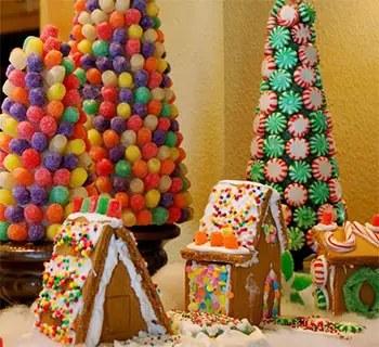 Διακοσμητικά Χριστουγεννιάτικα δέντρα από καραμέλες
