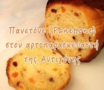 Πανετόνε (Panettone) στον αρτοπαρασκευαστή, της Αντιγόνης