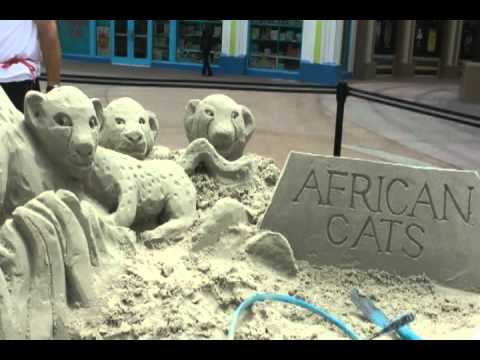 Archisand Creates Disney Nature's African Cats Sand Castle