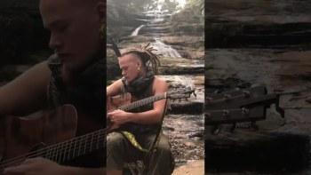 Dan Samways aka Nomadic Jurassic @ the Blue Waterfall