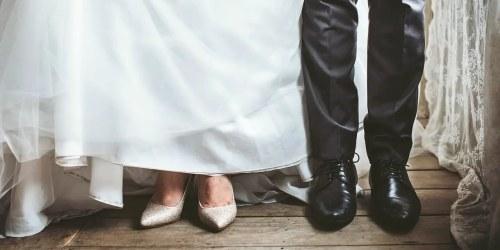 γάμος ζευγάρι παπούτσια