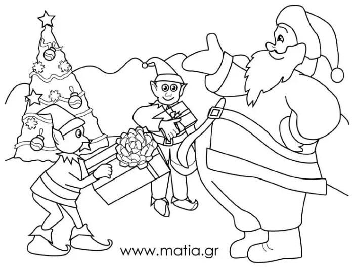 Άγιος Βασίλης με τα ξωτικά