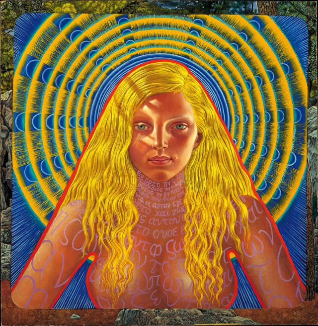 Portrait Paintings by Mati Klarwein - Saint John (1962)