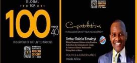 Nations Unies: Arthur Katalayi nominé dans le MIPAD Top 100 Mondial 2017 avec Beyoncé, Serena Williams, Lebron James, Tiger Woods…