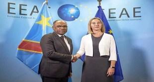 Léonard She Okitundu et Federica Mogherini