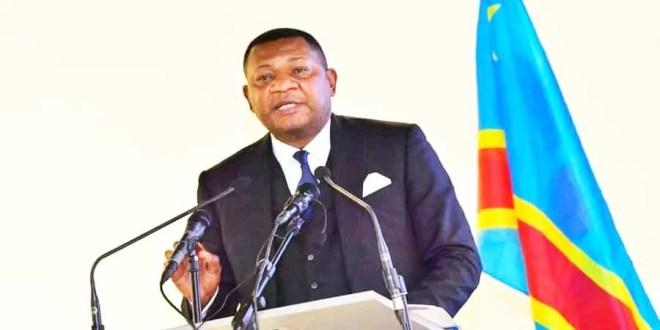 Le ministre des Sports et loisirs, Marcel Amos Mbayo dévoilant le programme de ses 100 jours dénommé Les 5 chantiers du Sport