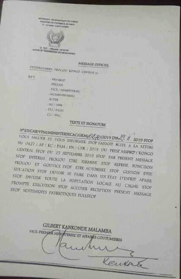 Atou Matubuana reprend les commandes du Kongo-Central