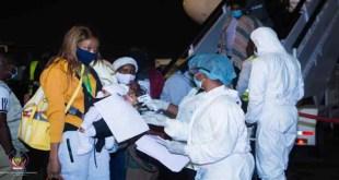 160 Congolais en provenance d'Afrique du Sud ont regagné Kinshasa après plus de deux mois de confinement