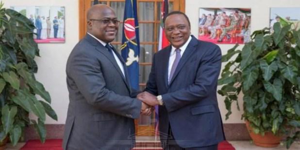 Tête-à-tête entre Uhuru Kenyatta et Félix Tshisekedi