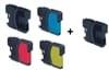 2 דיו שחור ועוד 3 צבעוני למדפסת BROTHER MFC-490CW