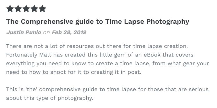 The Ultimate Timelapse Guide book review