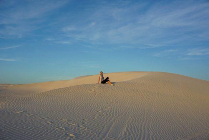 Wylie Bayn hiekkadyyneillä