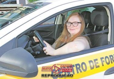 Jovem Down será a 1ª no país a tirar carteira de motorista-media-1