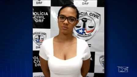 Tamara Pereira Amorim foi encaminhada para o Complexo Penitenciário de Pedrinhas em São Luís — Foto: Reprodução/ TV Mirante