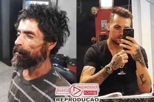 Barbeiro transforma sem-teto que pediu gilete pra arrumar emprego 80
