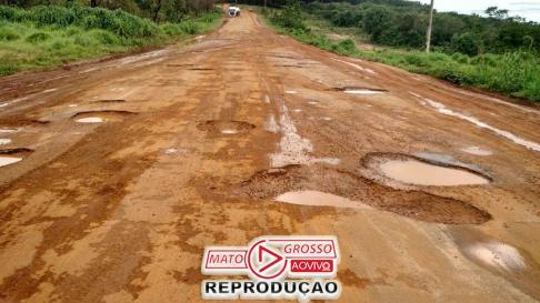 Trecho da MT 100, entre Alto Taquari e Alto Araguaia, que tem como responsável o Consórcio Via Brasil, o mesmo que venceu o trecho entre Alta Floresta e Colíder.