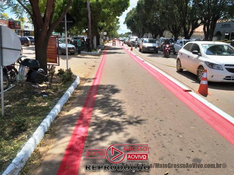 """""""Ciclo-faixa compartilhada"""" é a nova aposta da prefeitura de Alta Floresta para atender o fluxo de ciclistas 68"""
