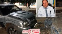 Vereador de Apiacás supostamente embriagado é preso por atropelar duas pessoas, bater em ônibus e pilha de bloquetes 172