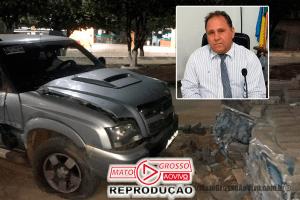 Vereador de Apiacás supostamente embriagado é preso por atropelar duas pessoas, bater em ônibus e pilha de bloquetes 68