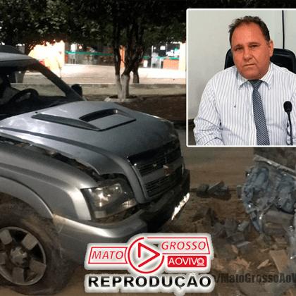 Vereador de Apiacás supostamente embriagado é preso por atropelar duas pessoas, bater em ônibus e pilha de bloquetes 395